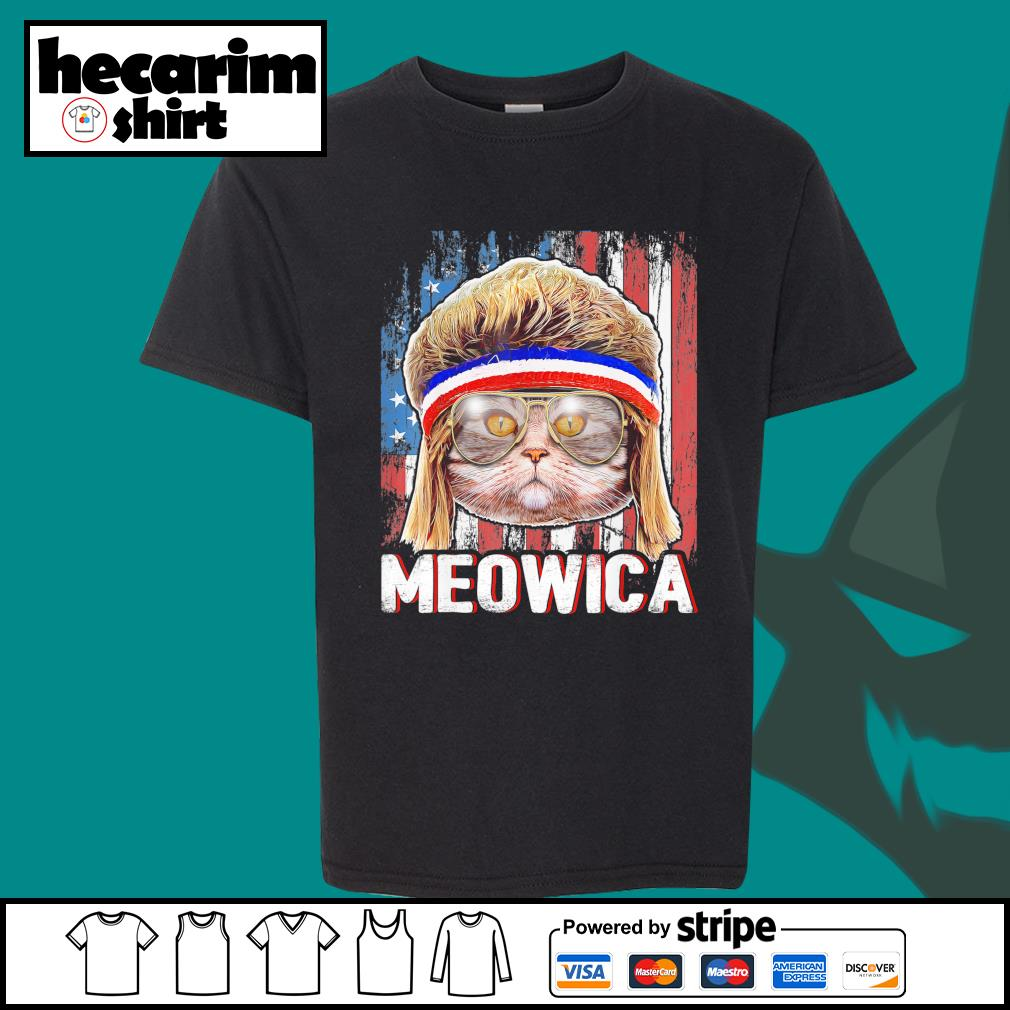 Cat Meowica flag American s Kid-T-shirt