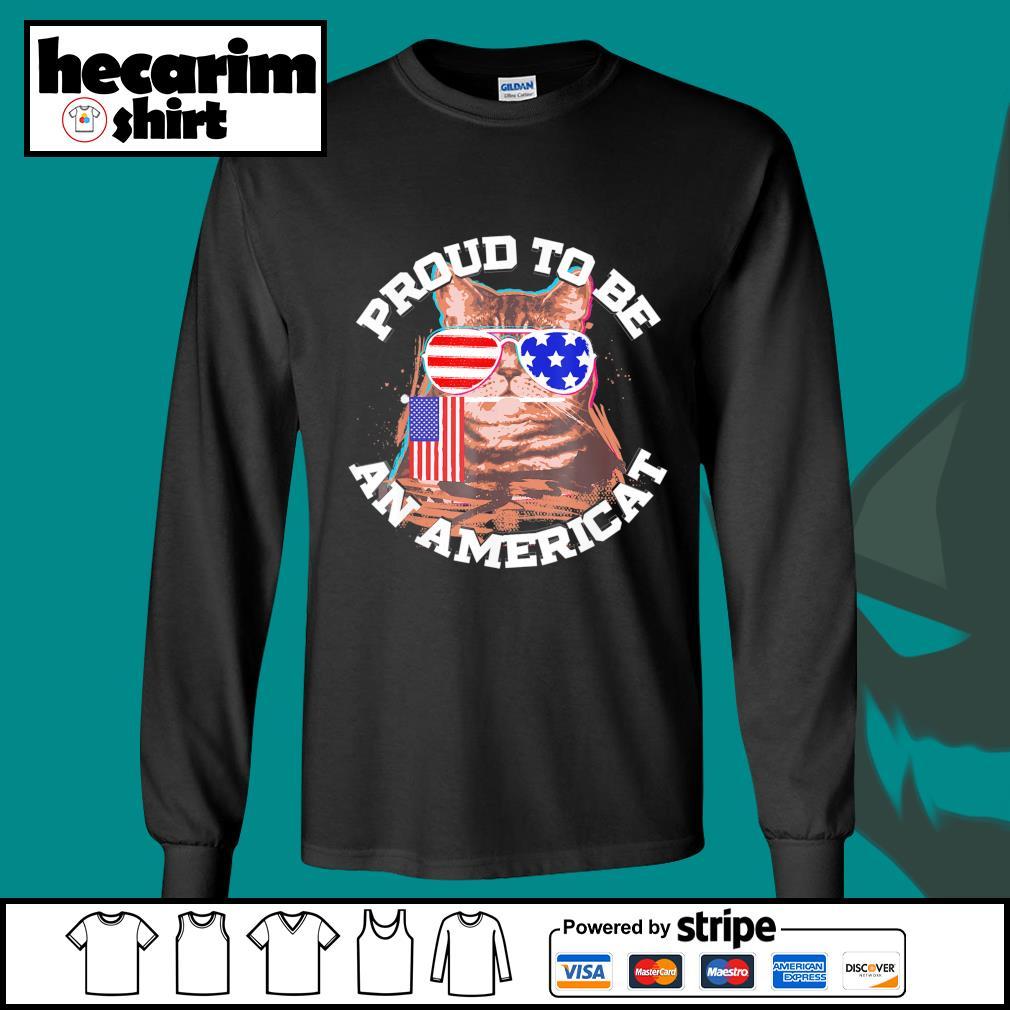 Cat proud to be an Americat s Long-Sleeves-Tee