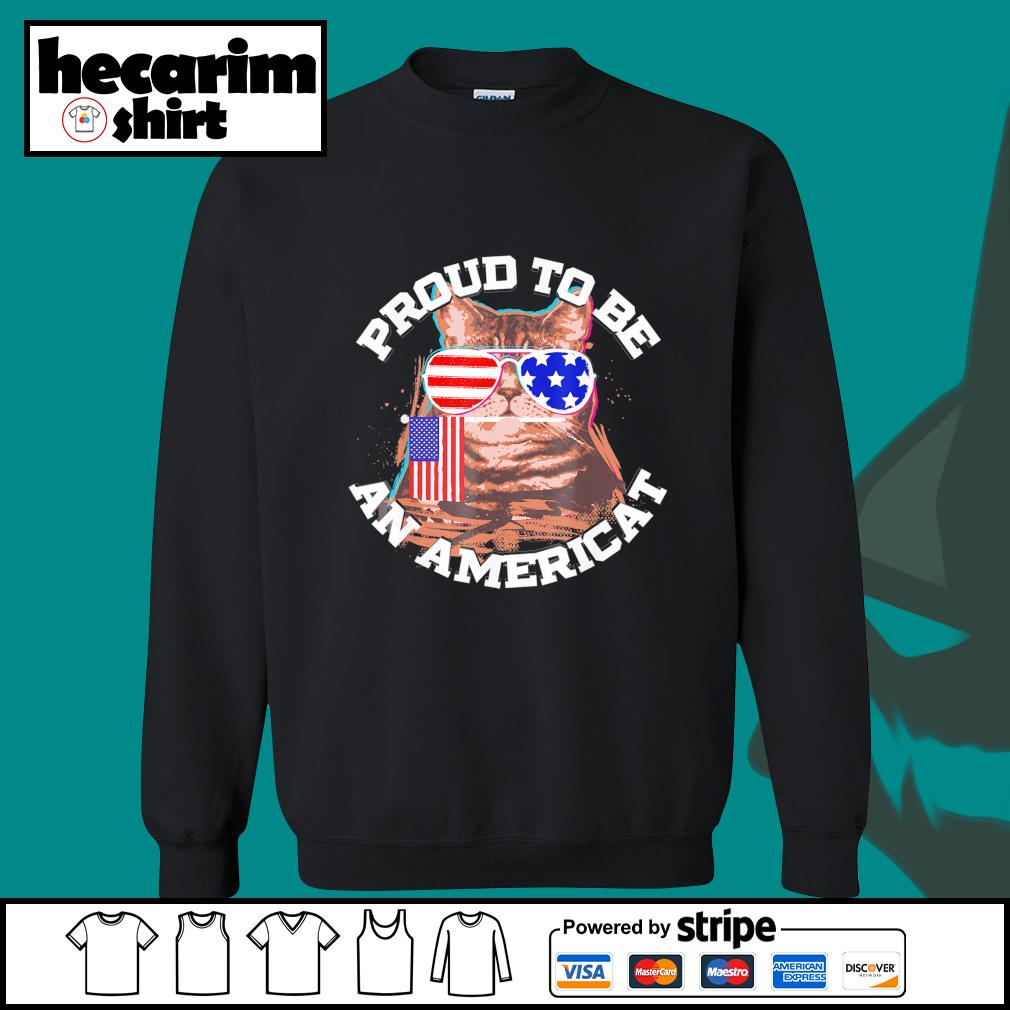 Cat proud to be an Americat s Sweater