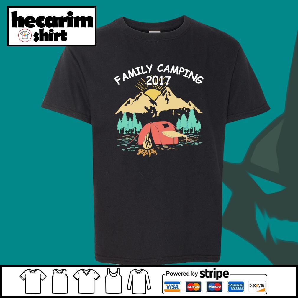 Family camping 2017 s Kid-T-shirt