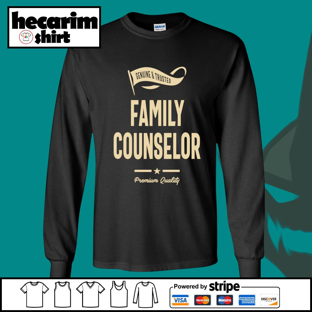 Genuine and trusted family counselor premium quality s Long-Sleeves-Tee