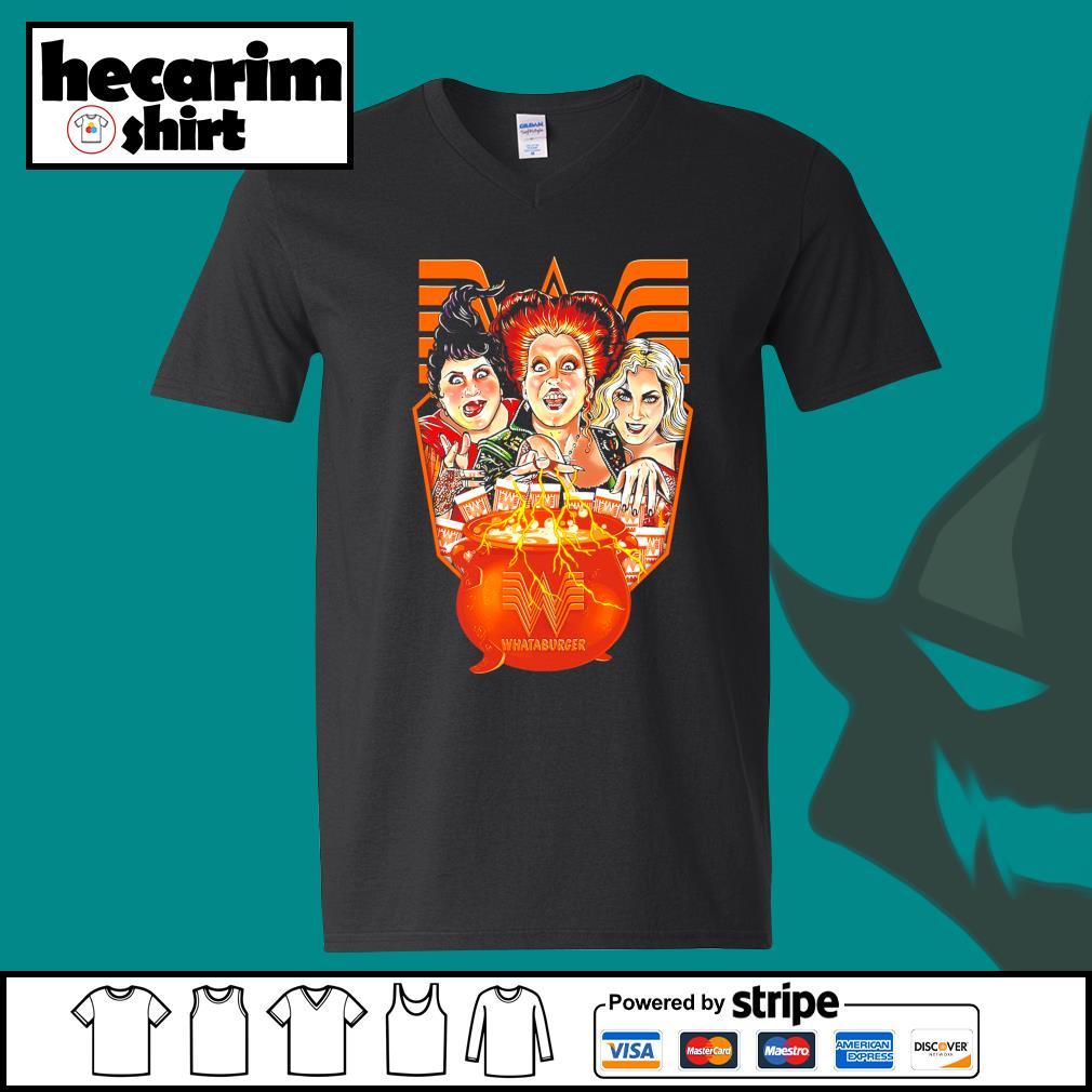 Hocus Pocus Whataburger Halloween s V-neck-T-shirt