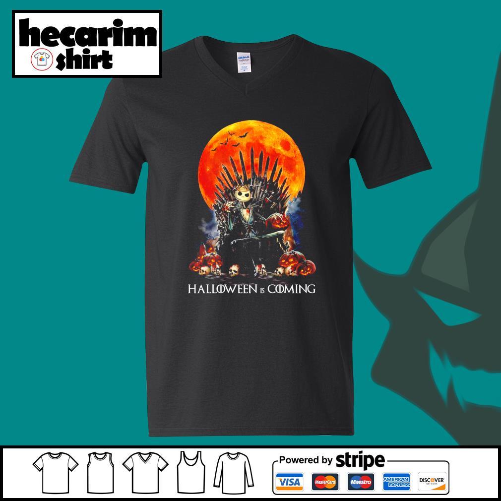Jack Skellington king Halloween is coming GOT s V-neck-T-shirt