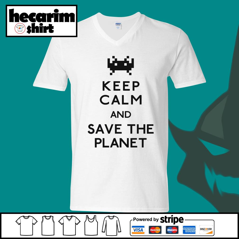Keep calm and save the planet s V-neck-T-shirt