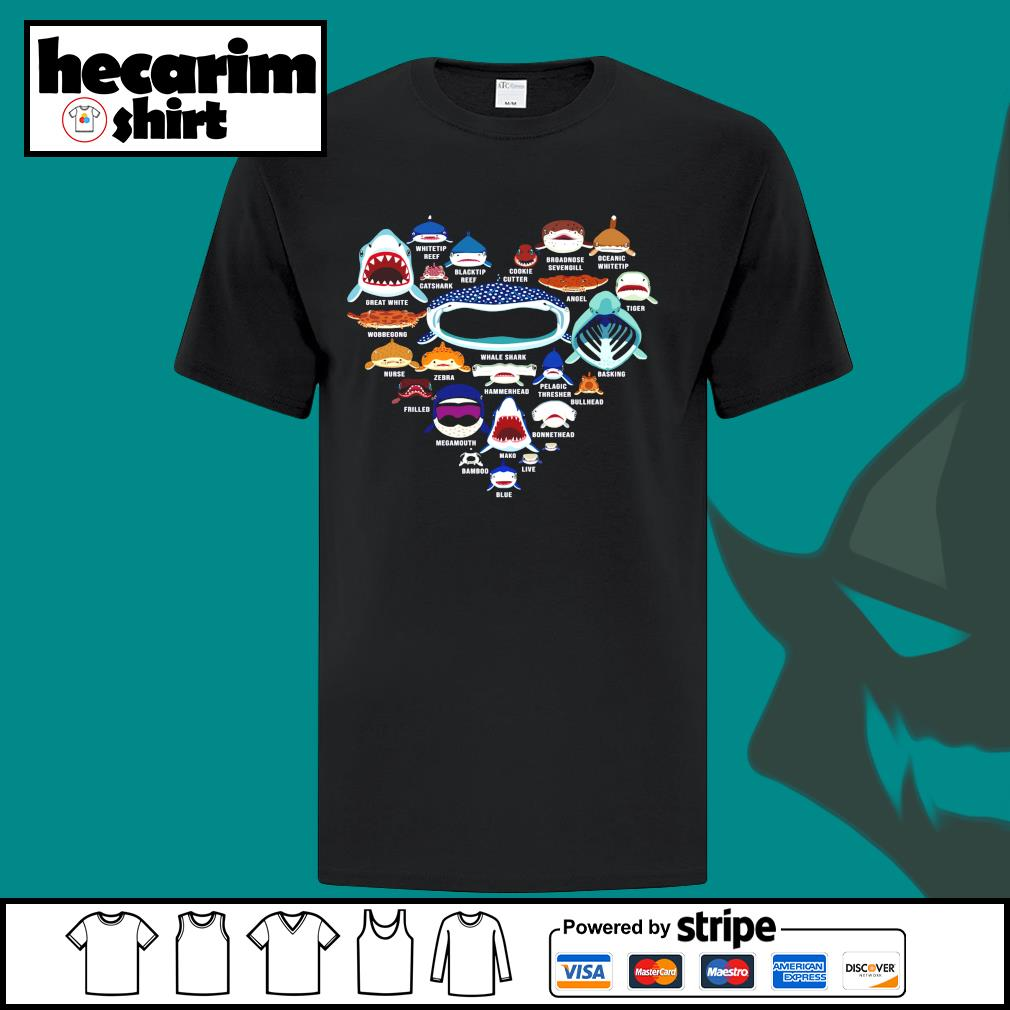 Love Shark whitetip reef catshark blacktip reef cookie cutter shirt