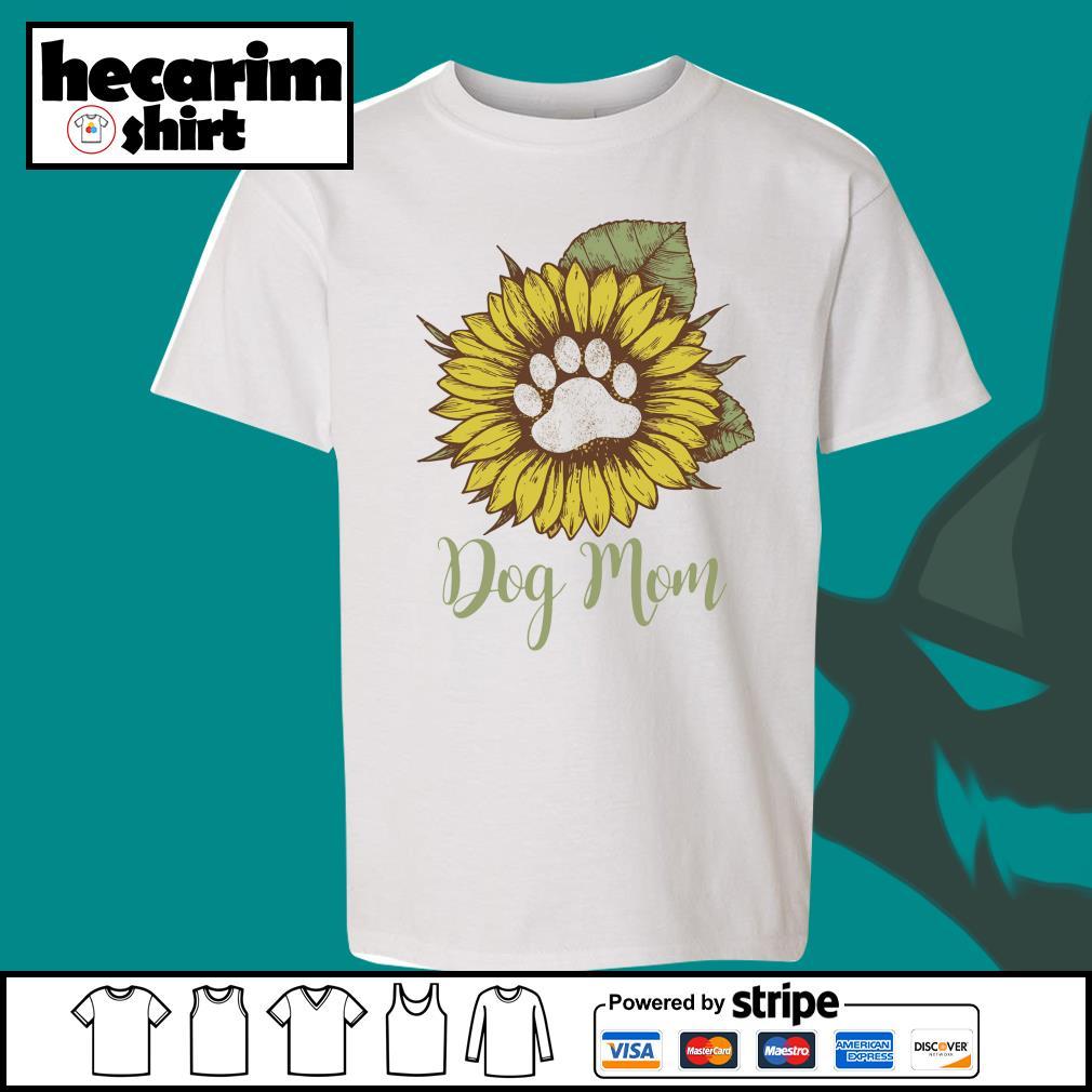Sunflower dog mom s Kid-T-shirt
