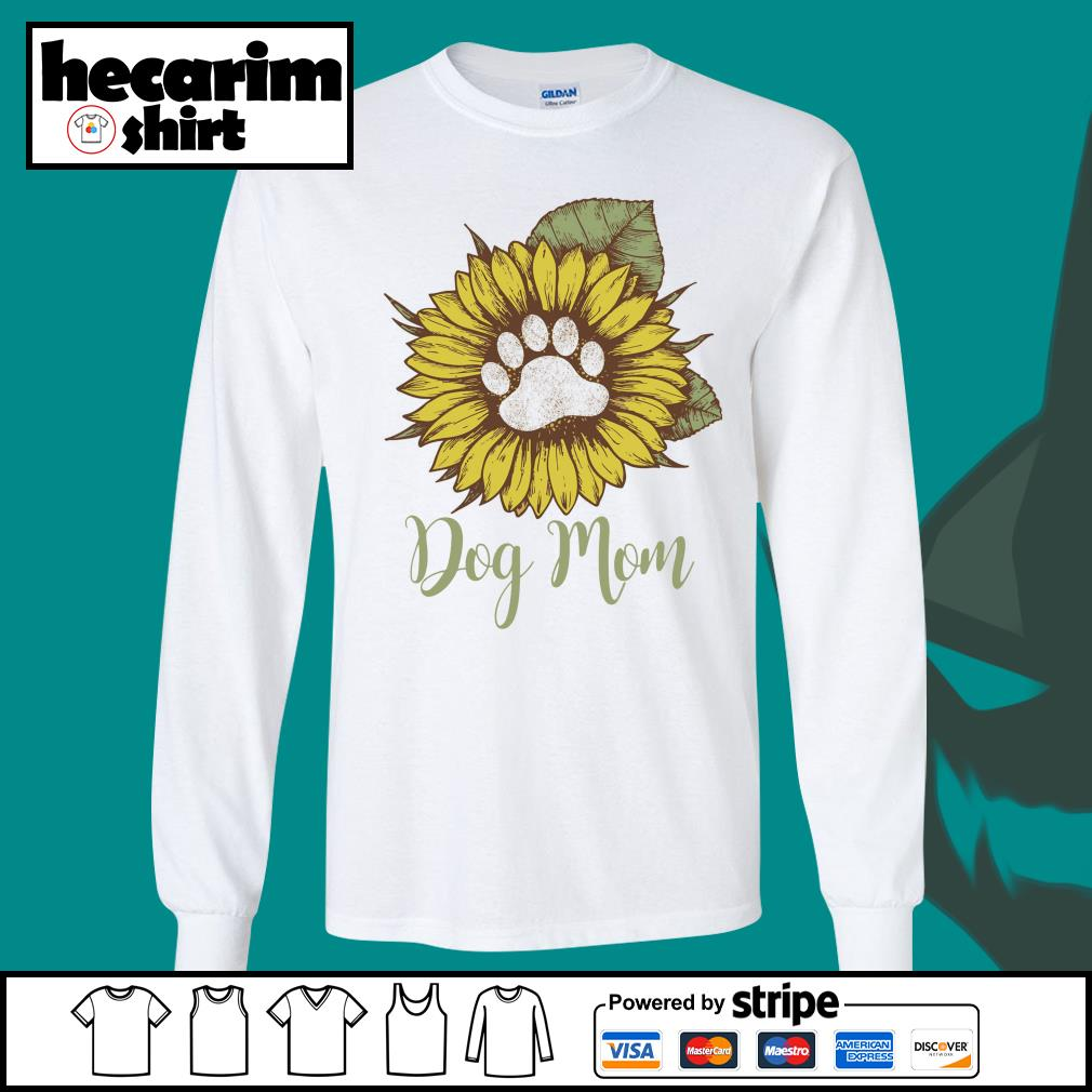 Sunflower dog mom s Long-Sleeves-Tee