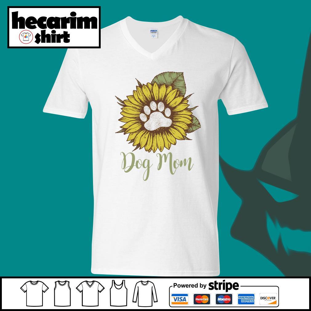 Sunflower dog mom s V-neck-T-shirt