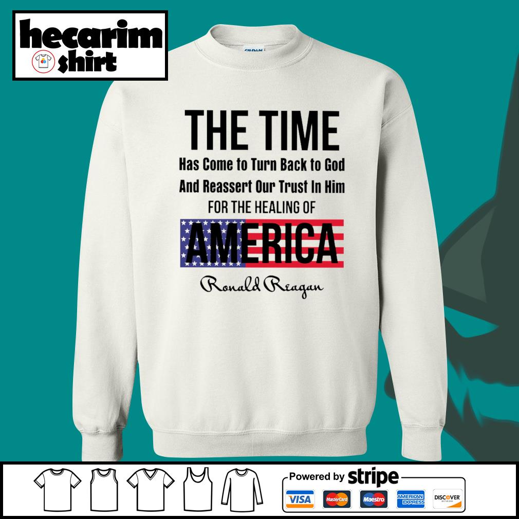 The time has come to turn back to god and reassert our trust in him for the healing of America s Sweater