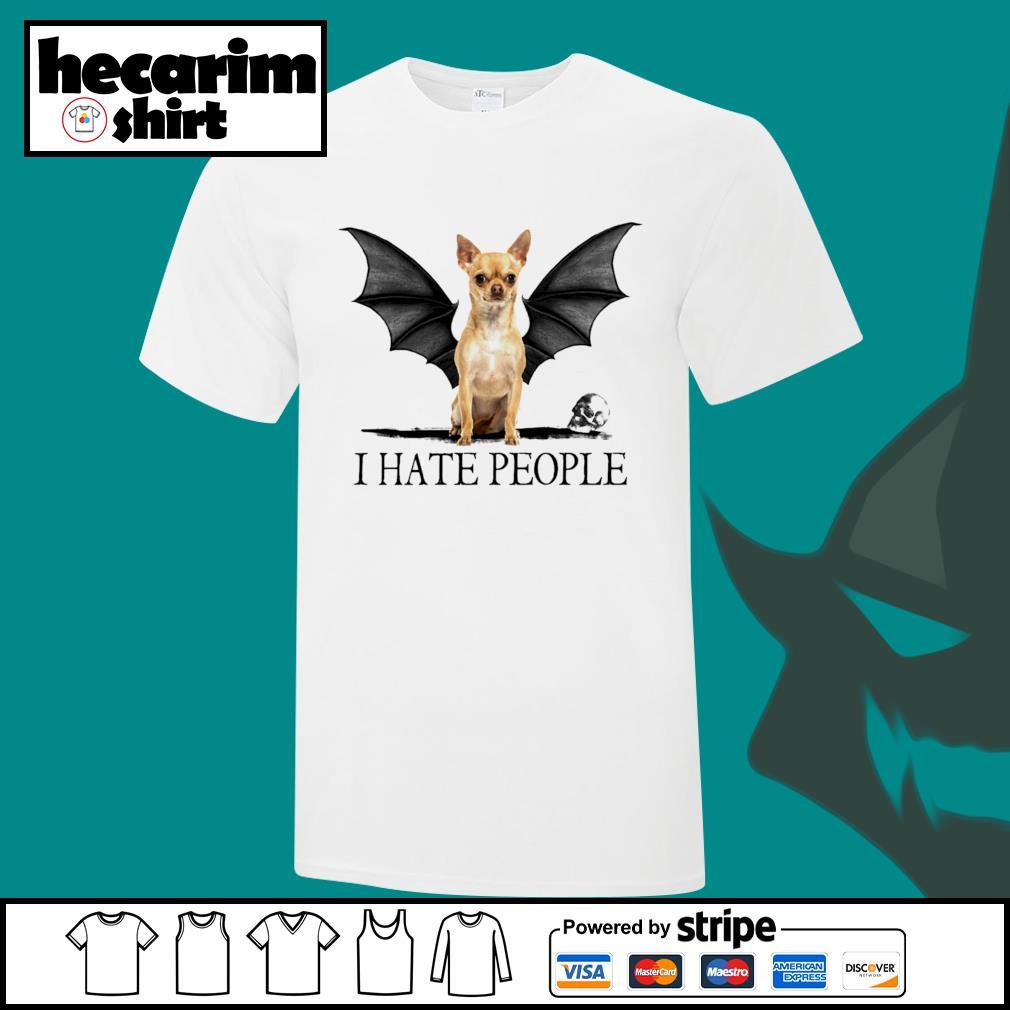 Chihuahua Batman I hate people Halloween shirt