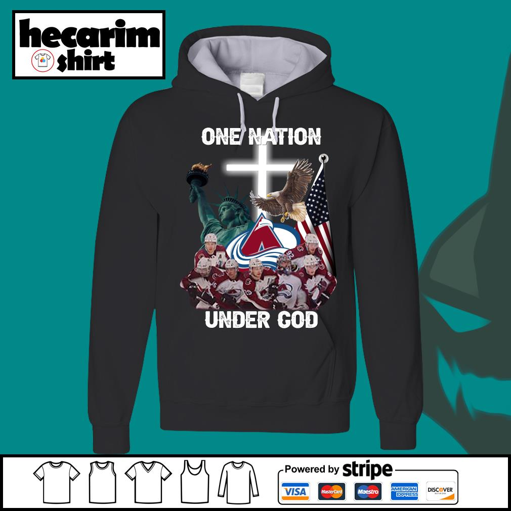 Colorado Avalanche one nation under god s Hoodie