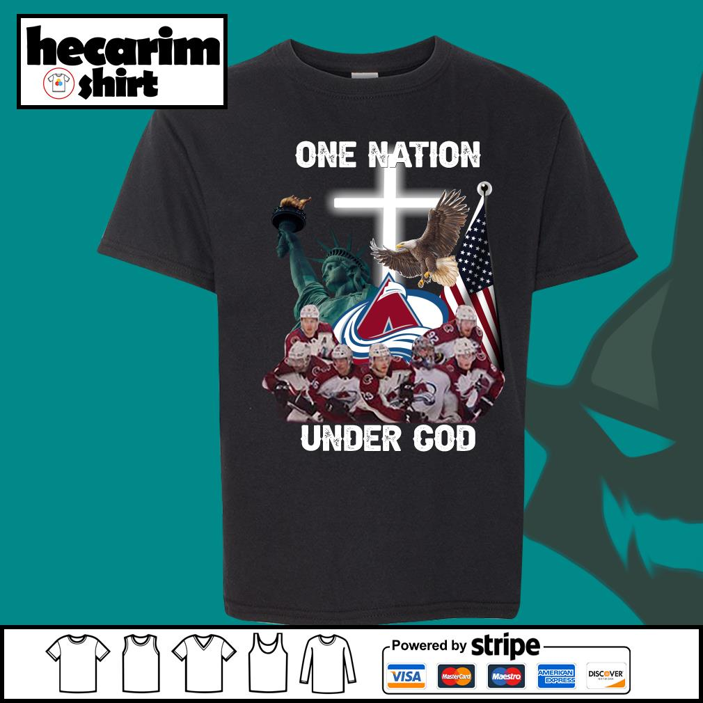 Colorado Avalanche one nation under god s Kid-T-shirt