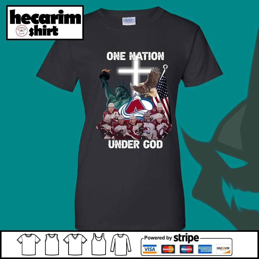 Colorado Avalanche one nation under god s Ladies-Tee