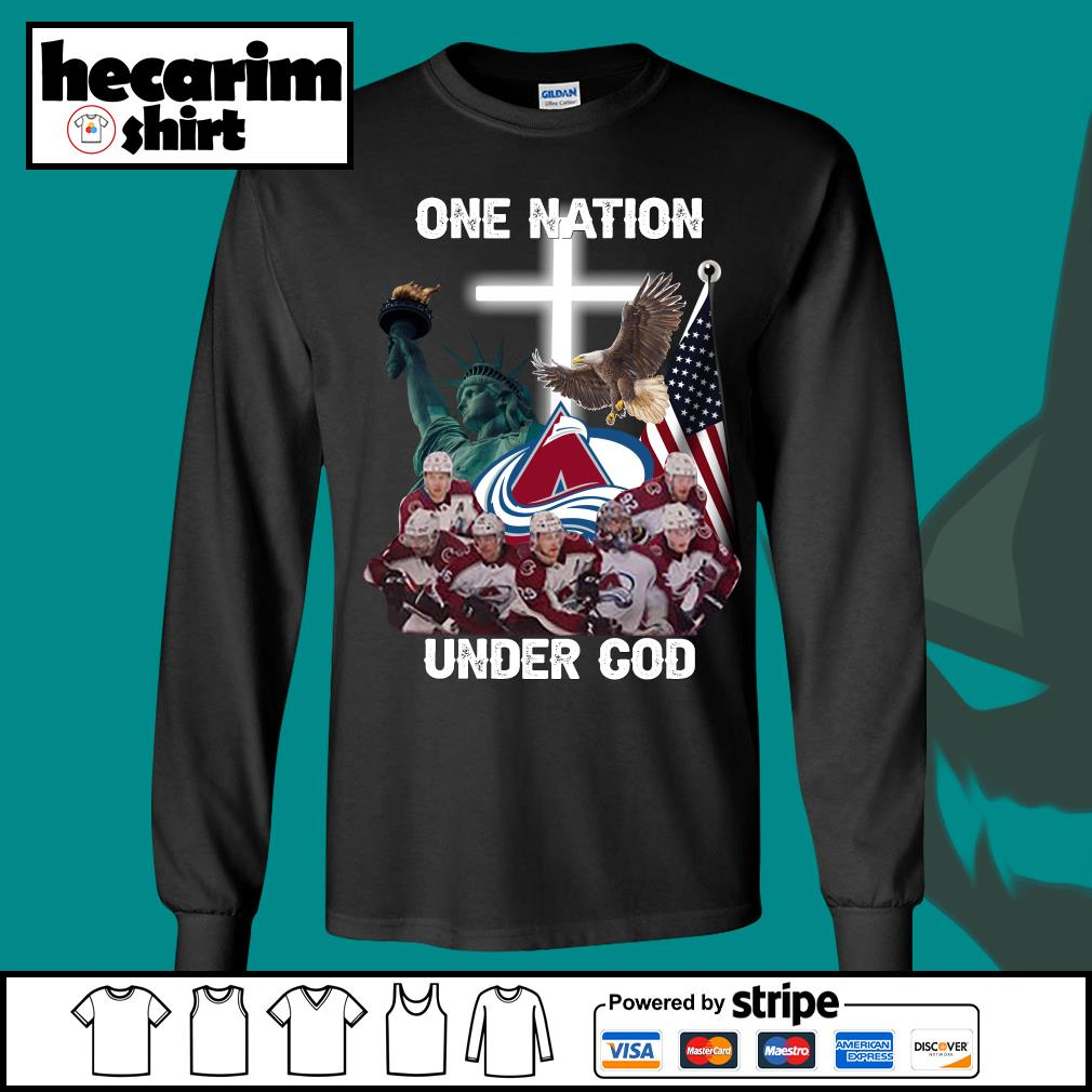 Colorado Avalanche one nation under god s Long-Sleeves-Tee