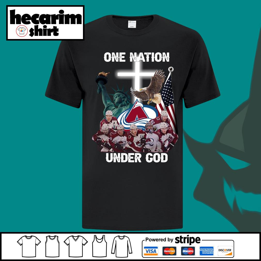 Colorado Avalanche one nation under god shirt