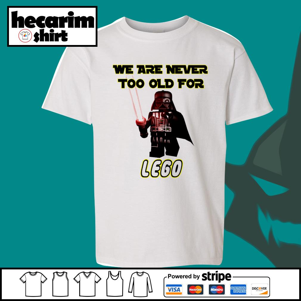 Darth Vader we are never too old for lego s Kid-T-shirt