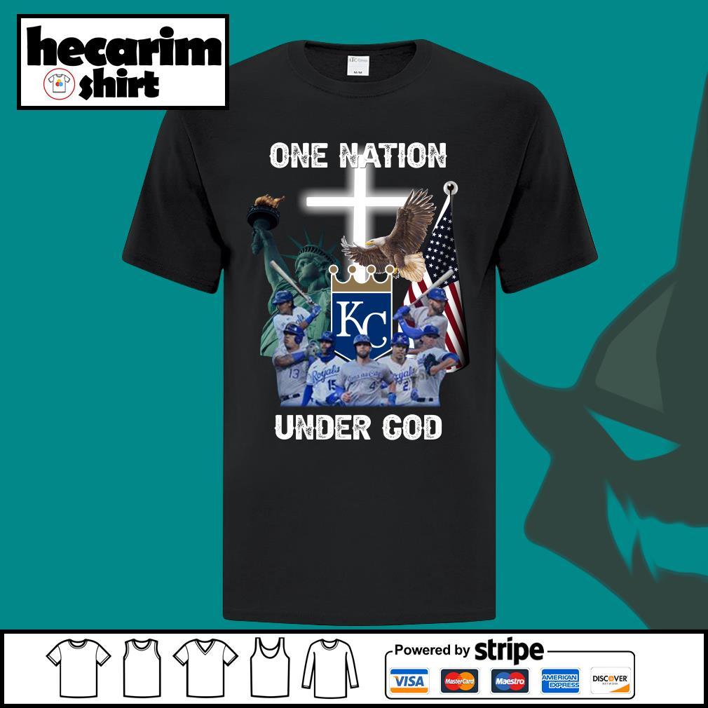 Kansas City Royals one nation under god shirt
