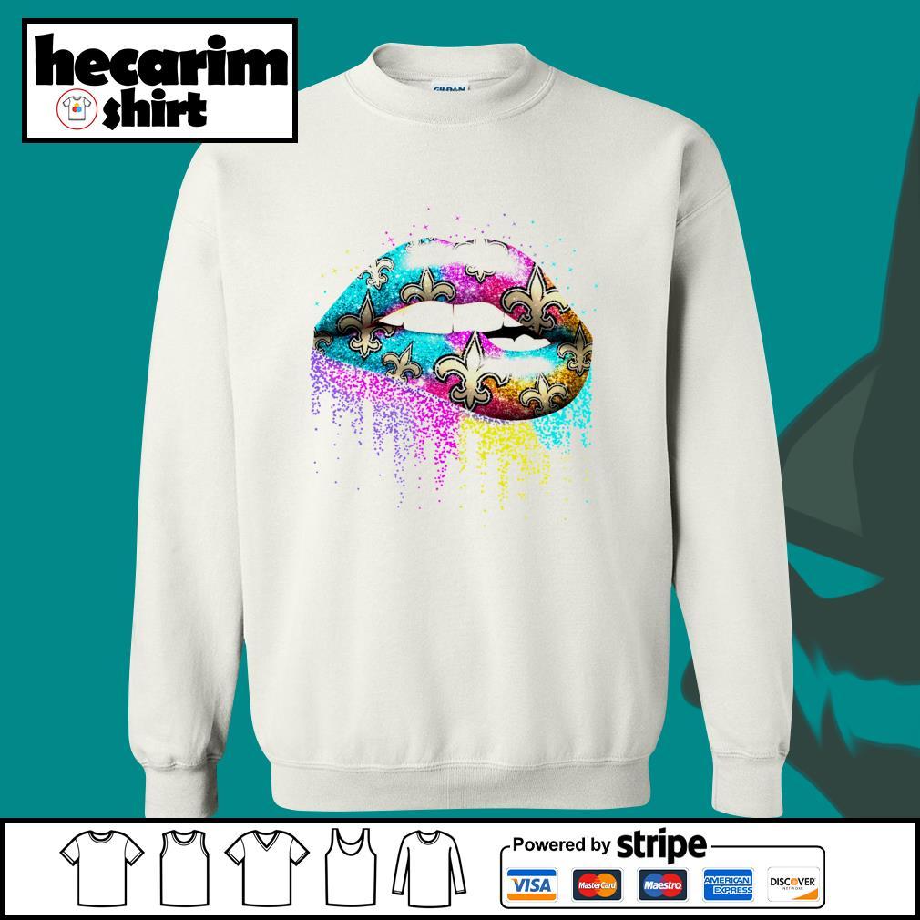 Lips New Orleans Saints s Sweater