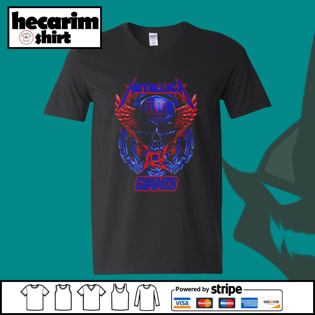 Metallica New York Giants s V-neck-T-shirt