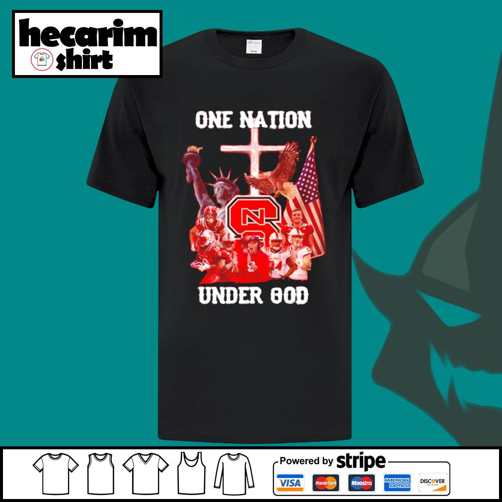 North Carolina State one nation under god shirt