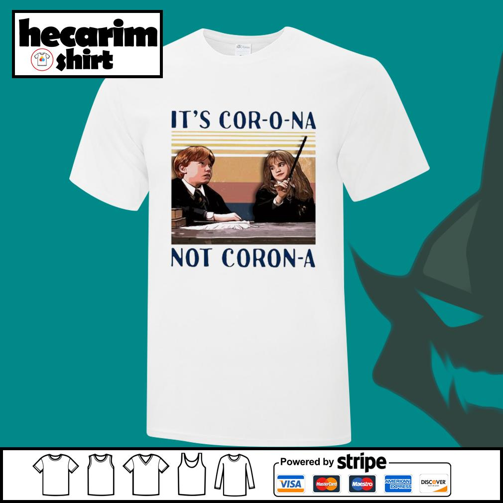 Ron Weasley and Hermione Granger It's Corona not Corona vintage shirt