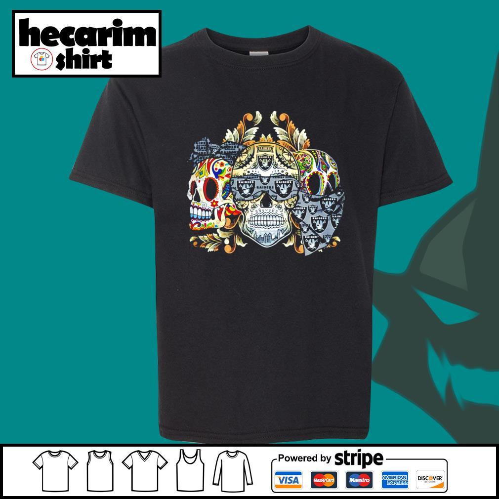 Three Skull Sugar Oakland Raiders s Kid-T-shirt