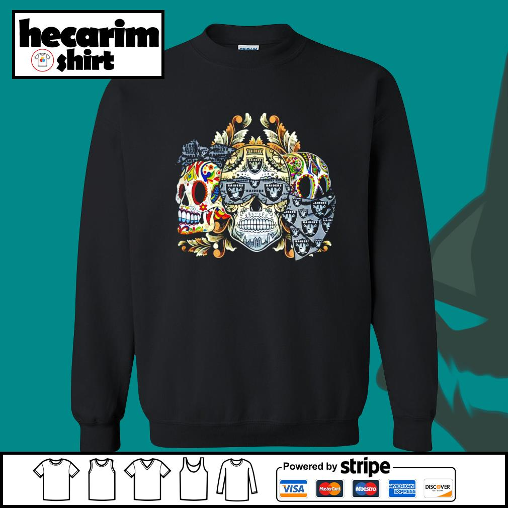 Three Skull Sugar Oakland Raiders s Sweater