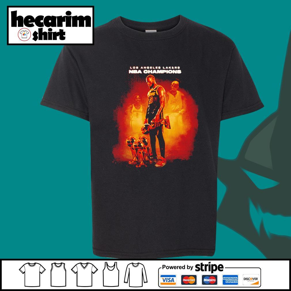 Lebron James Los Angeles Lakers NBA Champions s Kid-T-shirt