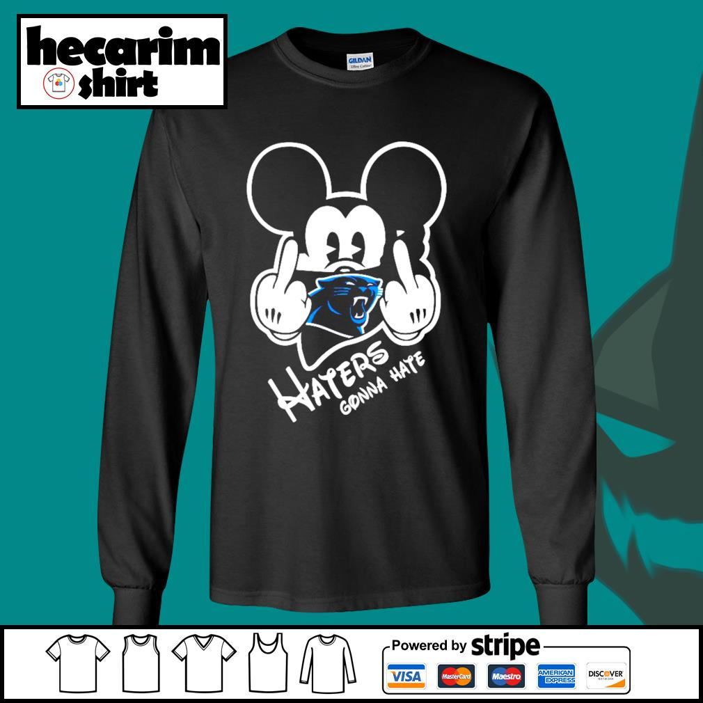 Mickey Carolina Panthers haters gonna hate s Long-Sleeves-Tee