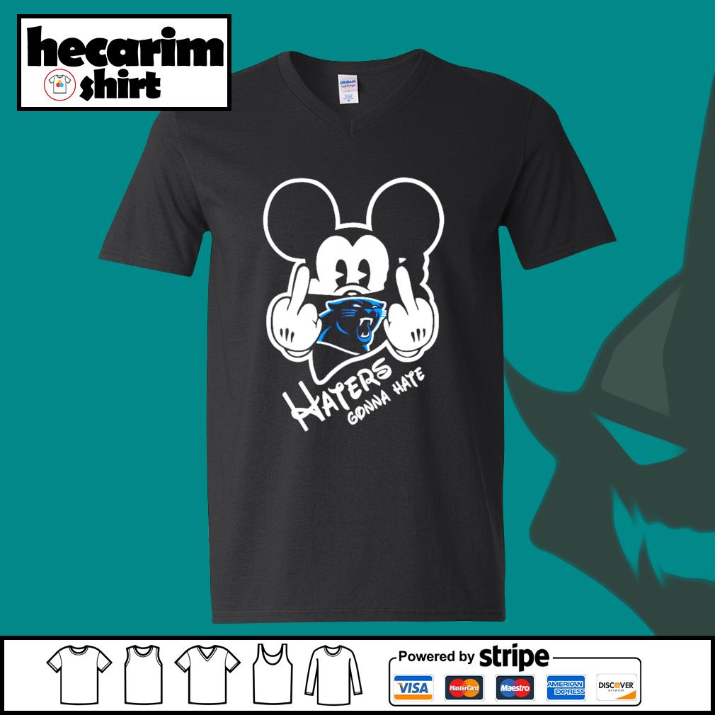 Mickey Carolina Panthers haters gonna hate s V-neck-T-shirt