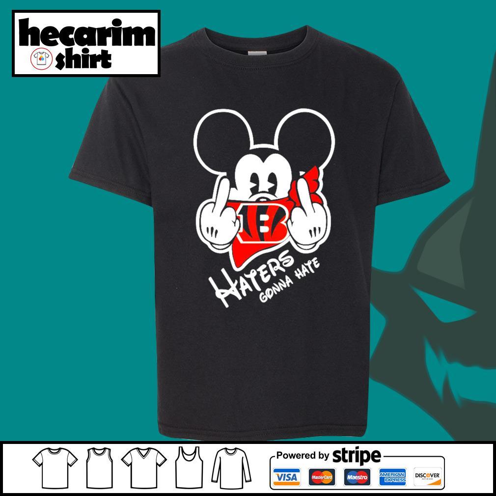 Mickey Cincinnati Bengals haters gonna hate s Kid-T-shirt
