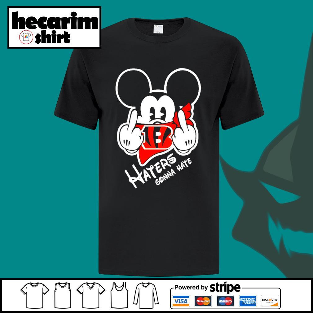 Mickey Cincinnati Bengals haters gonna hate shirt