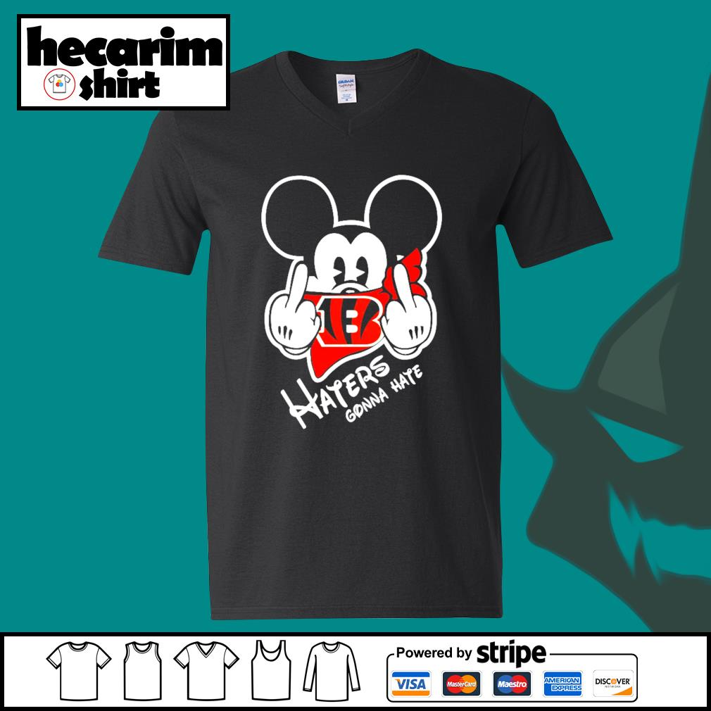 Mickey Cincinnati Bengals haters gonna hate s V-neck-T-shirt