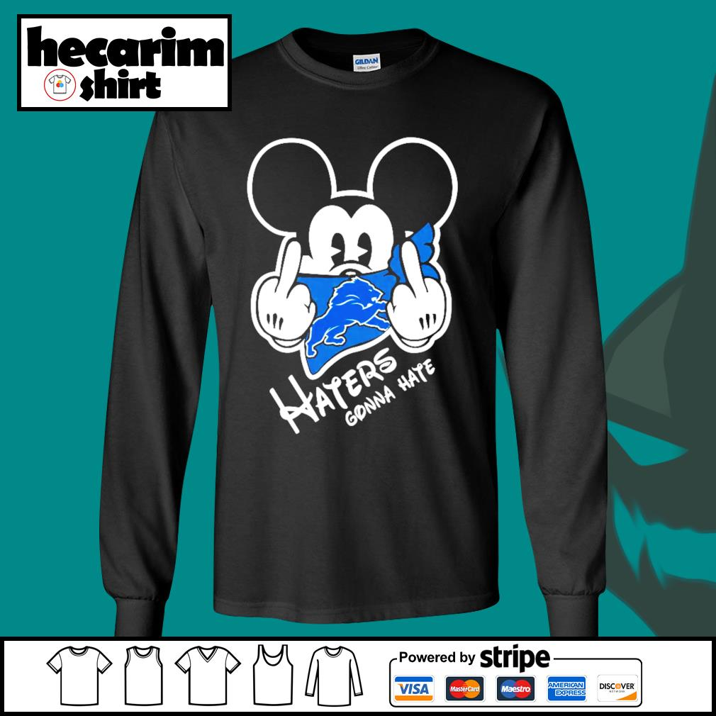 Mickey Detroit Lions haters gonna hate s Long-Sleeves-Tee
