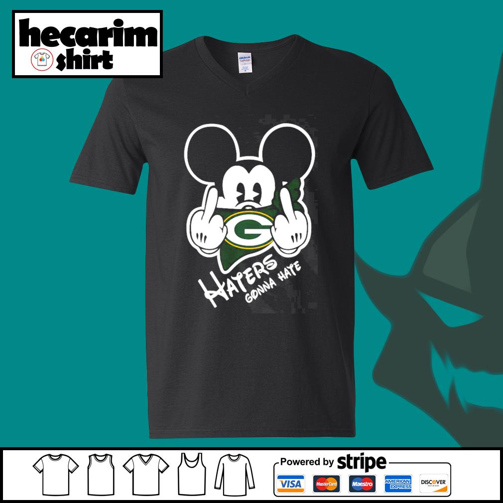 Mickey Green Bay Haters haters gonna hate s V-neck-T-shirt