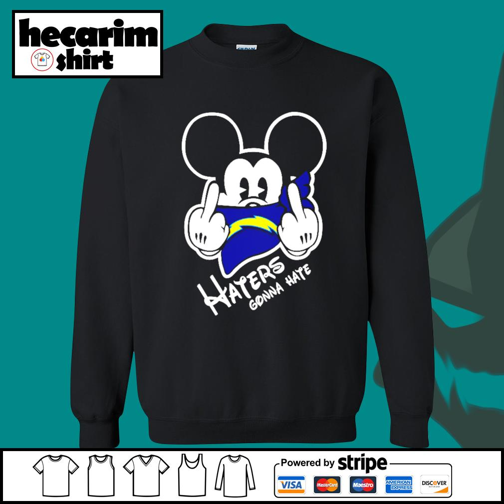 Mickey Los Angeles Chargers haters gonna hate s Sweater