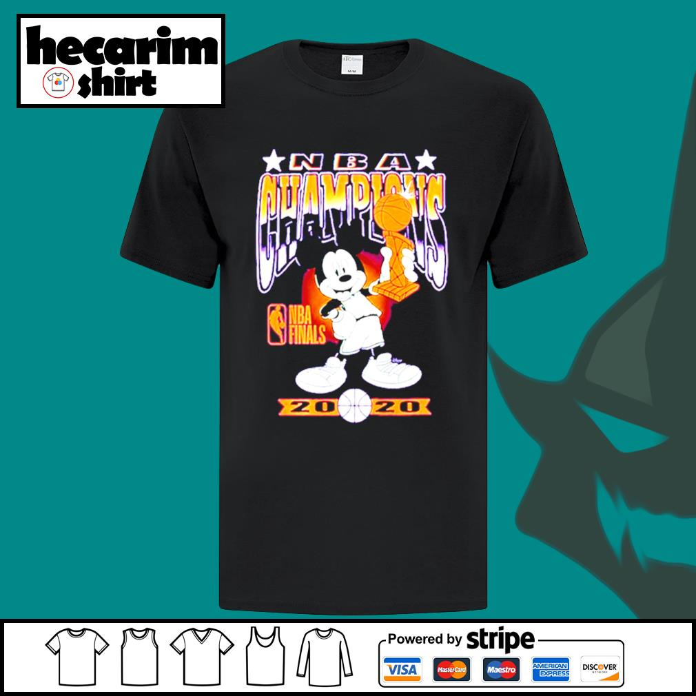 Mickey Mouse NBA champions 2020 shirt